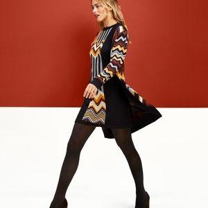 SET - Zig Zag Missoni  Sweater Coat & Dress